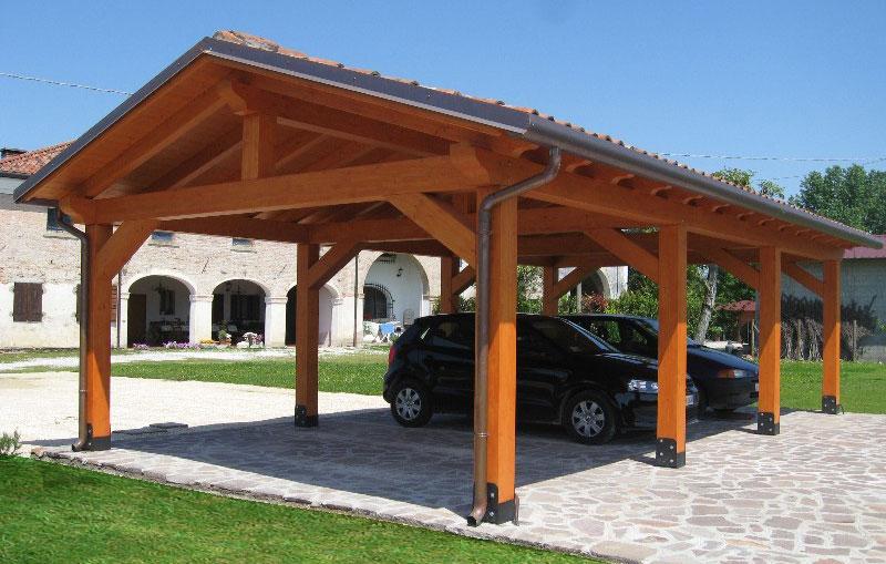 Autocover moderni in legno venezia padova treviso l for Tettoie economiche