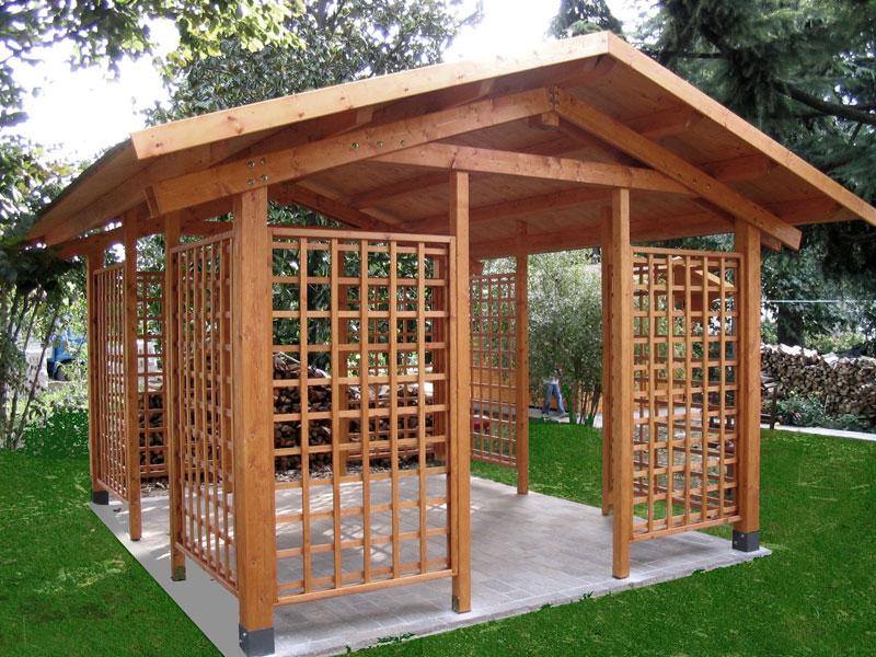 Gazebo in legno venezia treviso padova l 39 arredo giardino for Gazebo arredo giardino