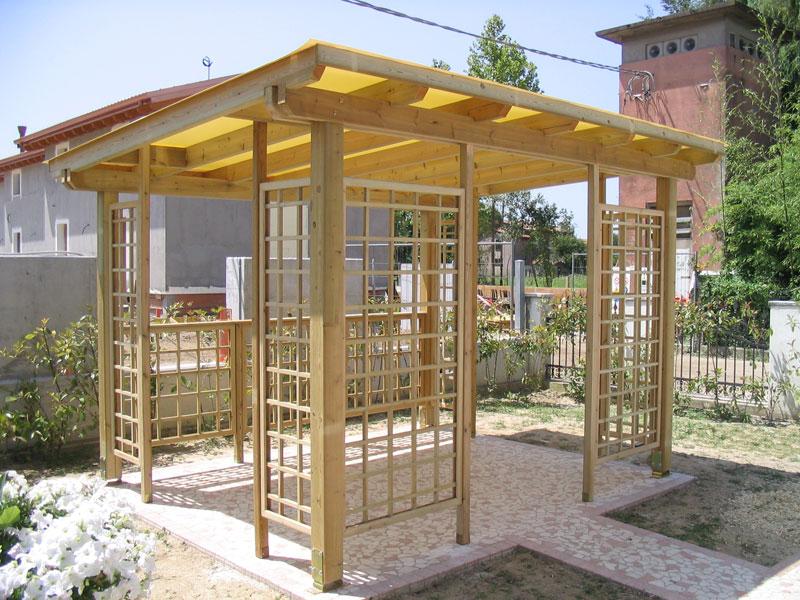 Gazebo in legno venezia treviso padova l 39 arredo giardino for Arredo giardino in legno