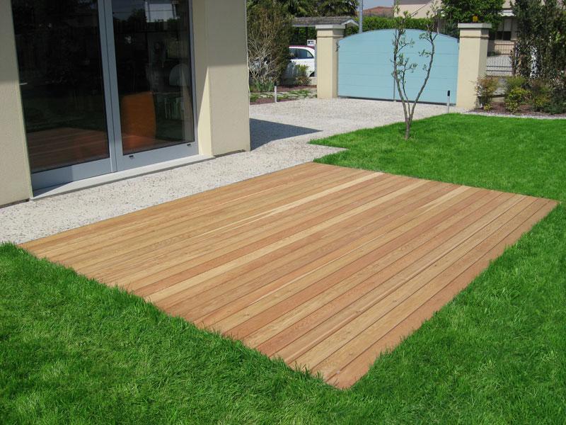Pavimenti legno per esterni venezia padova treviso l 39 arredo giardino - Doghe in legno per esterni ...