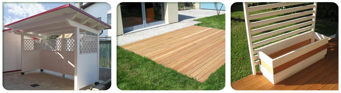 Pavimenti legno per esterni venezia padova treviso l - Pannelli divisori giardino ...